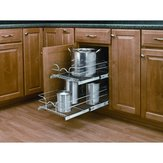 Double Pull-Out Basket in Chrome Wire