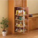 Roll-out pantry center mount
